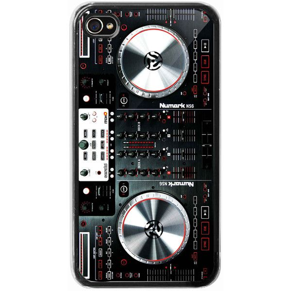 iPhone 4 /4s hard case - Digital mixer DJ turntable electronic music -... ($16) ❤ liked on Polyvore