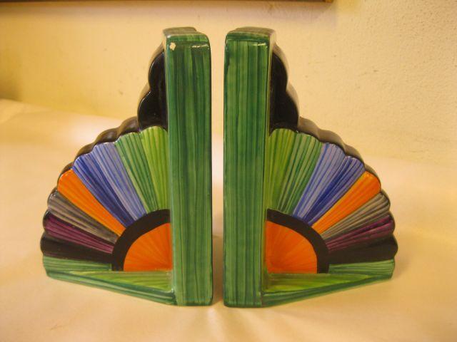 A beautiful pair of art deco carlton ware bookends circa 1930