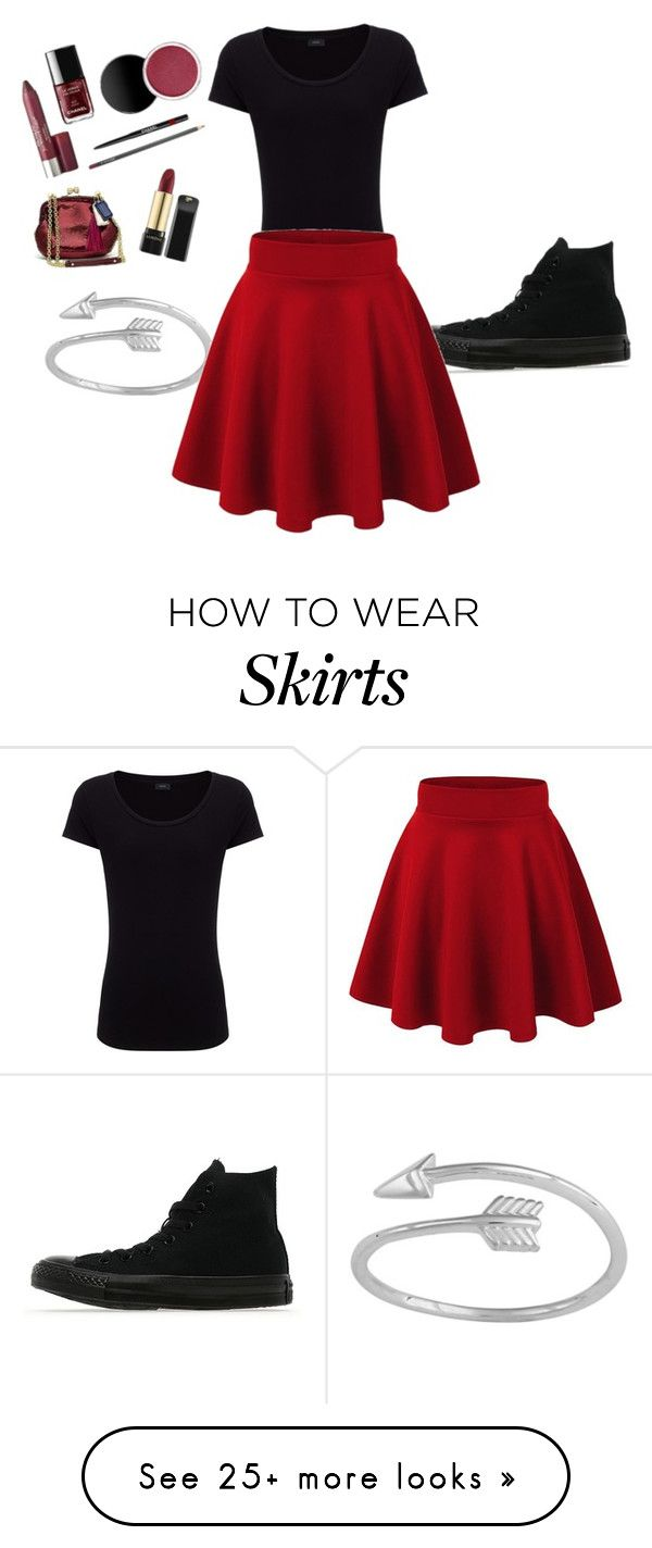 """Fall skirt look cute"" by beautybabe009 on Polyvore featuring Joseph and Converse"