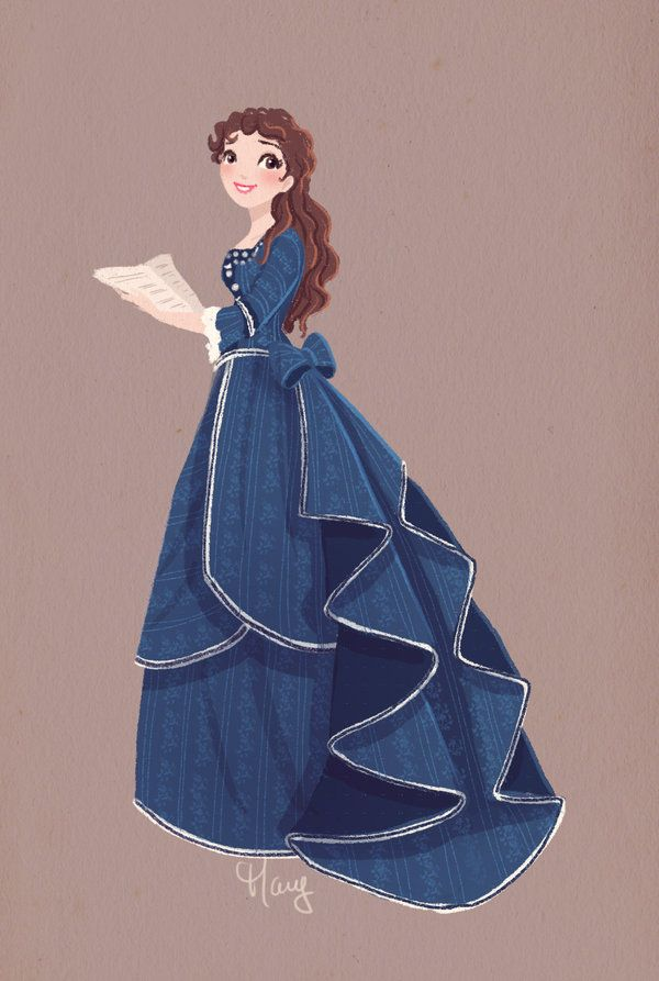 Christine's rehearsal gown, stage version. #illustration #popculture #thephantomoftheopera
