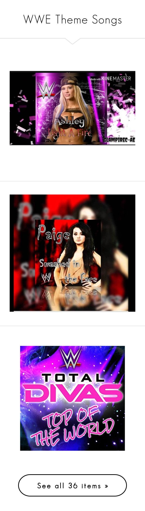 wwe theme songs by leeandbulletfan liked on polyvore featuring home and home decor
