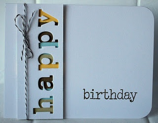 love the negative space on this card! do this idea with the letter punches I have--monogram cards, etc