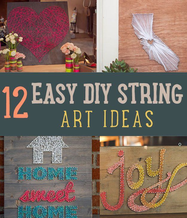 12 Easy DIY Home Decor Ideas Using String DIYReady.com | Easy DIY Crafts, Fun Projects,