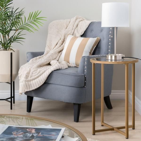 Modern Tufted Wingback Accent Chair Living Room Furniture W