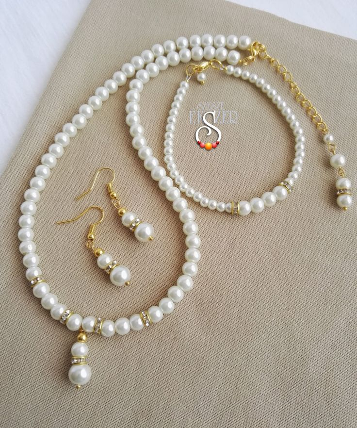 Menyasszonyi ékszer, ékszerszett Bride Jewelry Set Etsy: EstherPearlShop