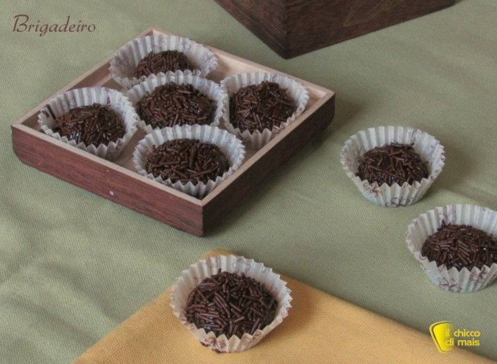 Brigadeiro palline al cioccolato ricetta brasiliana il chicco di mais