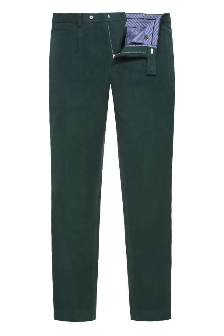 Forest Moleskin Trousers with one fron fold, inner waistband, classic slim fit or regular available