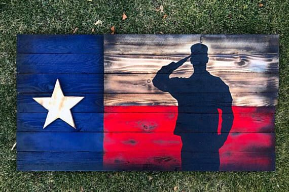 Texas Flag Soldier Silouette Etsy In 2020 American Flag Wall Art American Flag Wood Wood Texas Flag