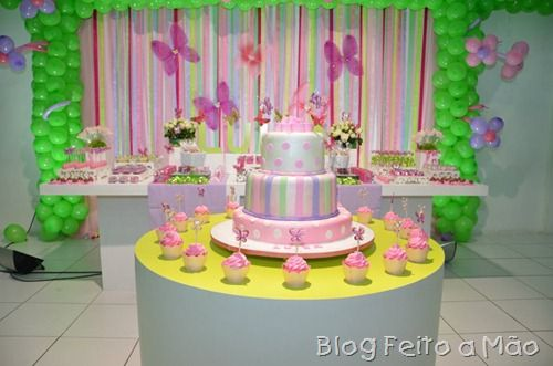 Blog feito a mão: Birthday, Cake, The Wonder, Dessert Table, Festa Borboleta, Table, Party, Dessert, Alice Pai