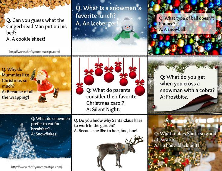 Printable Christmas jokes for kids Christmas jokes for