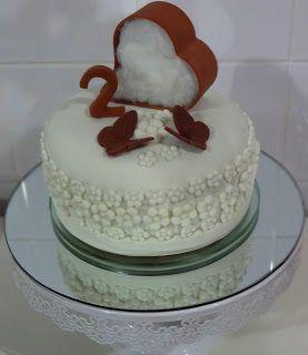 Bolo bodas de algodão