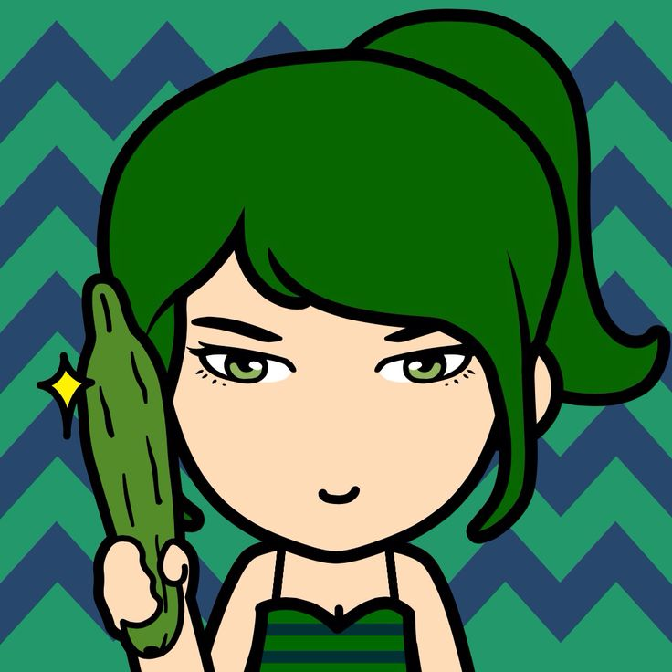 Dark green girl