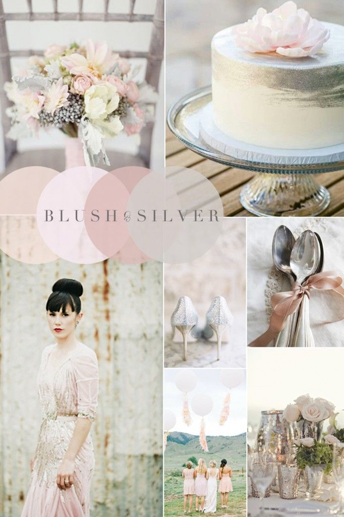 Vintage Wedding Colour Combinations - Blush Pink & Silver (Best Blush Palette)