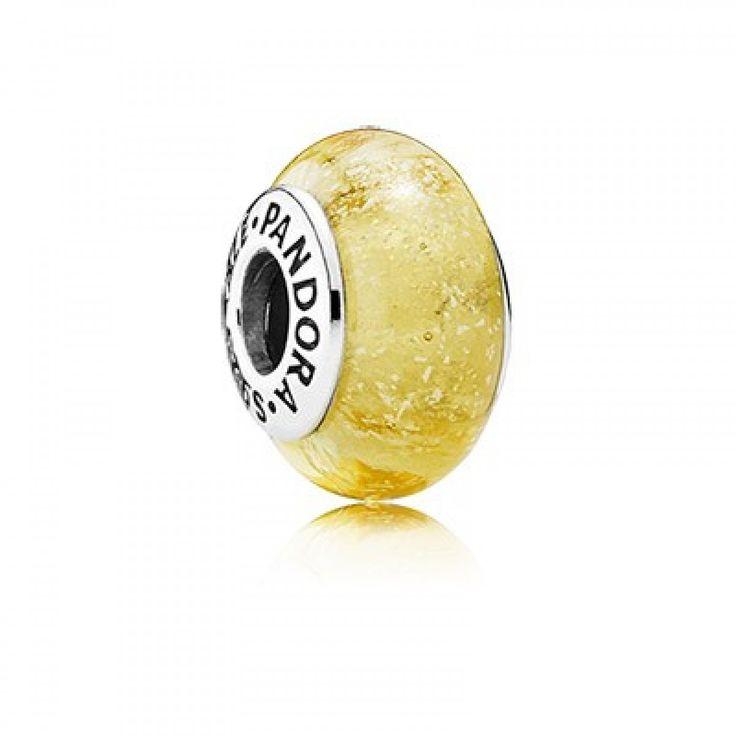 http://www.pandoraclearancedeals.com/pandora-beads-sale/pandora-disney-belle-silver-charm-with-yellow-fluorescent-murano-glass.html