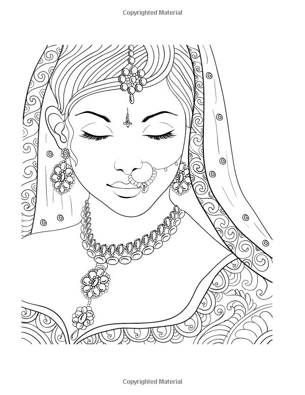 face coloring pages adults - photo#12