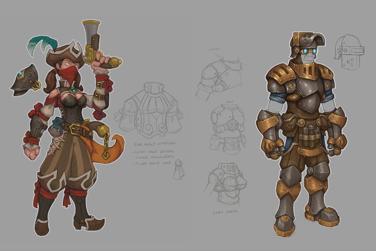 32255 - Torchlight II: Concept art for possible classes.