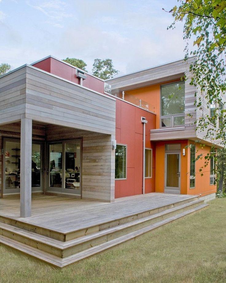 Modern Exterior Wood Siding: T1 11 Cedar Siding For Farmhouse Shed Also A Frame Barn