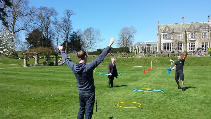 Fun team building event at Wiston House Sussex.