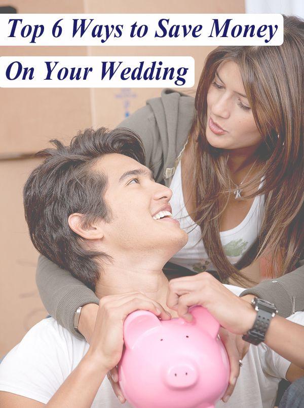 Six tips for saving money on a wedding.