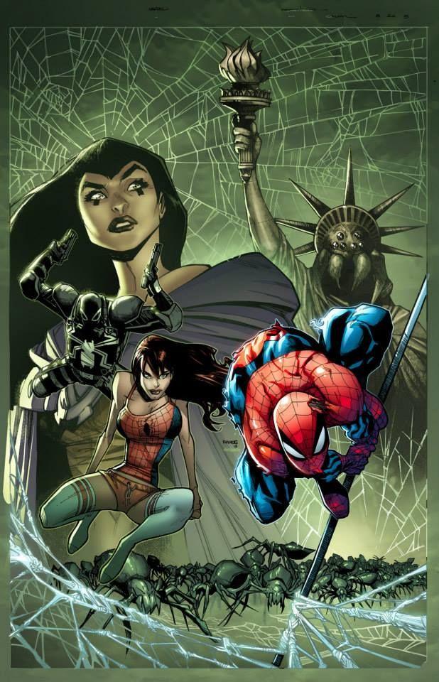 Secret Wars - Spider-Island cover by Humberto Ramos and Edgar Delgado