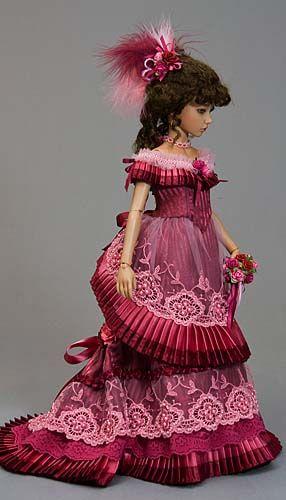 Dusty Wine Victorian Ballgown