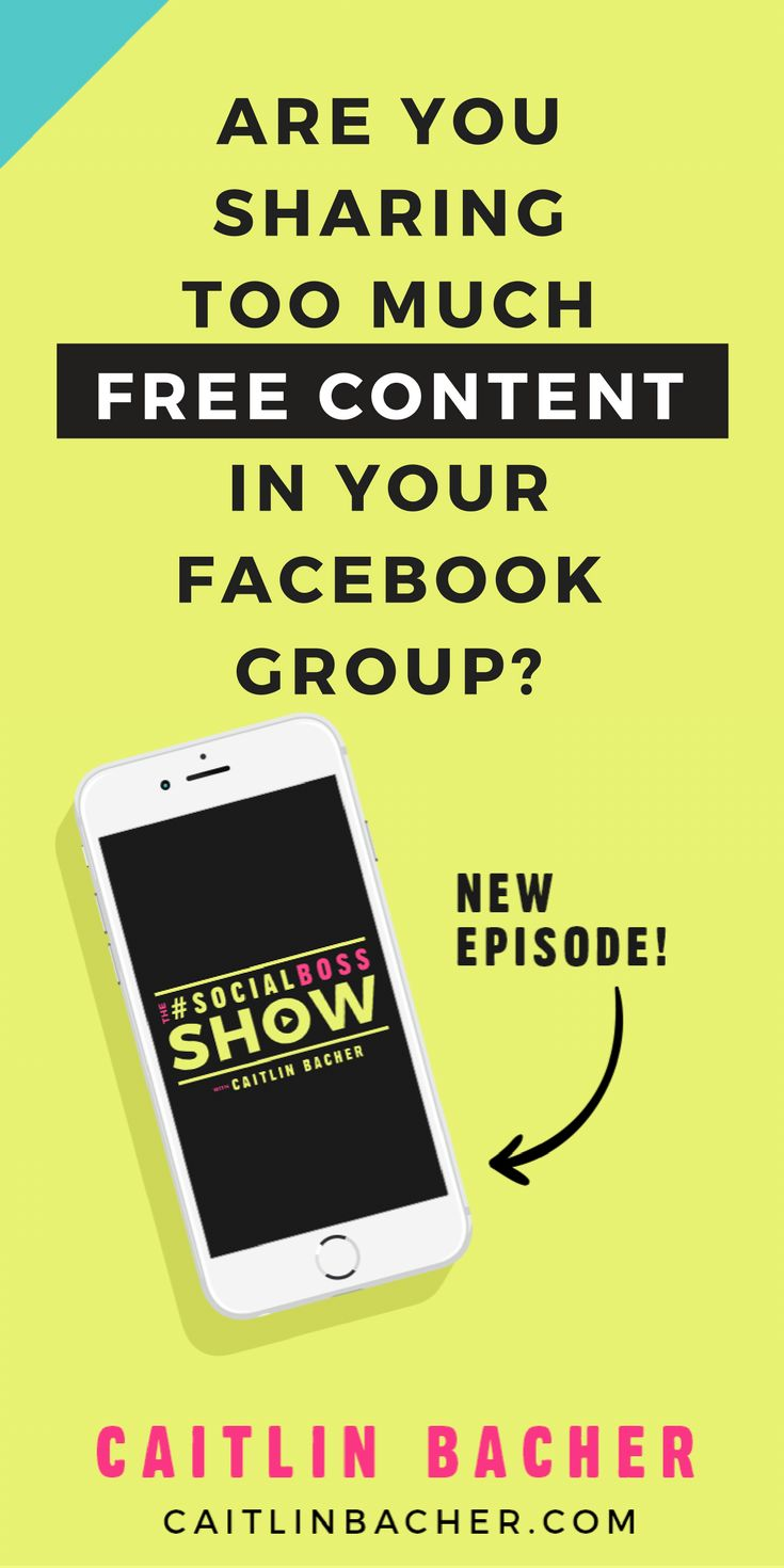 Are You Sharing Too Much Free Content In Your Facebook Group? | Facebook Groups | Social Media Tips | Business Tips | caitlinbacher.com