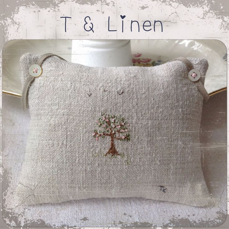 Blossom tree embroidery, T&Linen