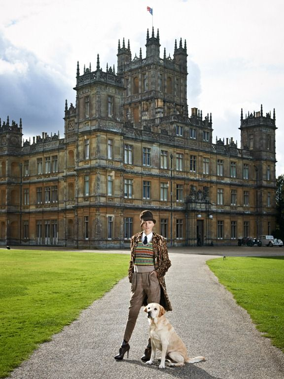 Highclere Castle, England--where Downton Abbey is filmed