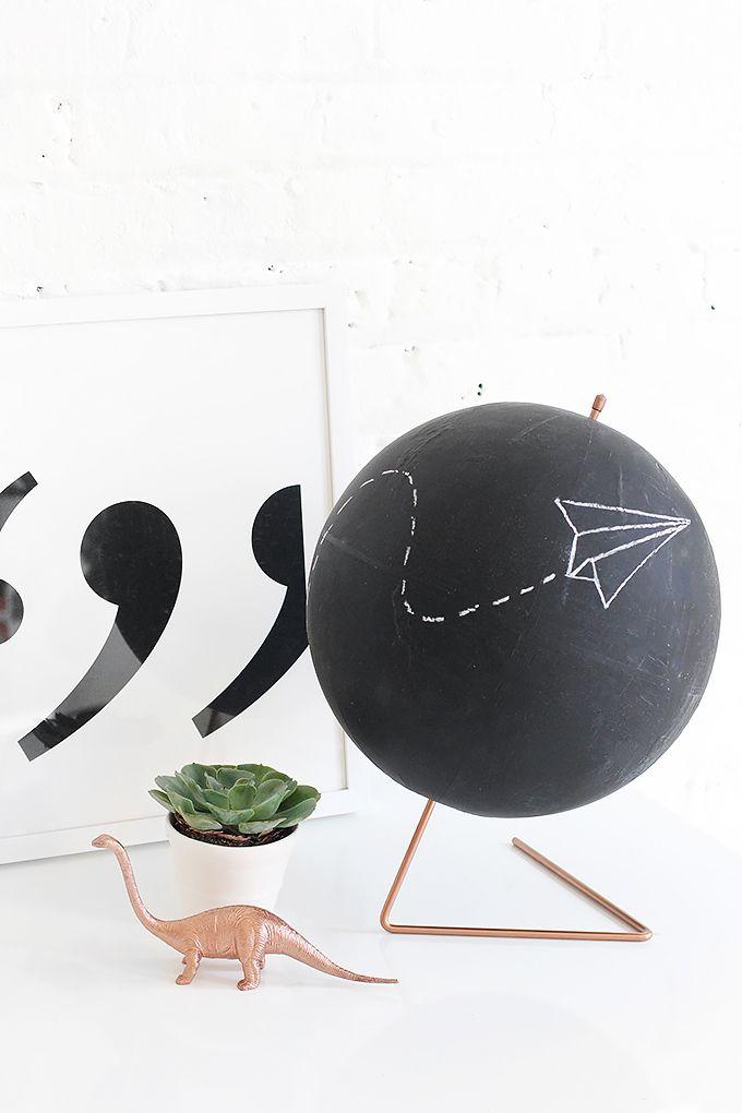 MY DIY | Copper Chalkboard Globe | I SPY DIY