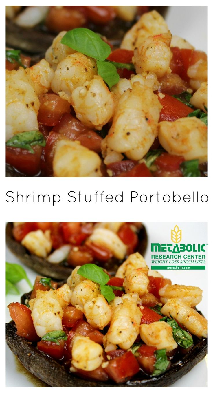 Portobello stuffed with shrimp   – Wedding Meal Plan