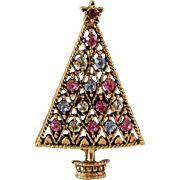 CLEARANCE Eisenberg Ice Christmas Tree Brooch
