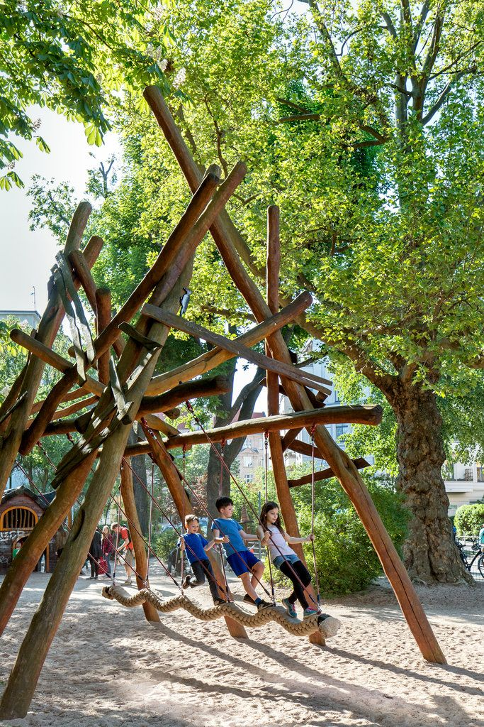 Berlin's playgrounds are some of the most physically challenging in the world, and German parents are fine with that.
