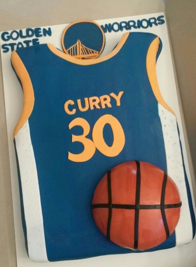 Golden State Jersey Cake