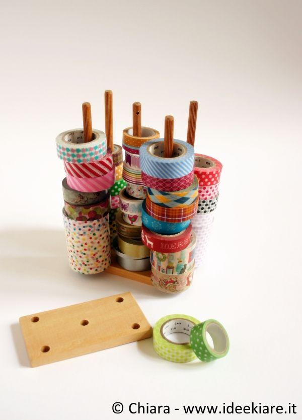 Come tenere in ordine i washi-tape.