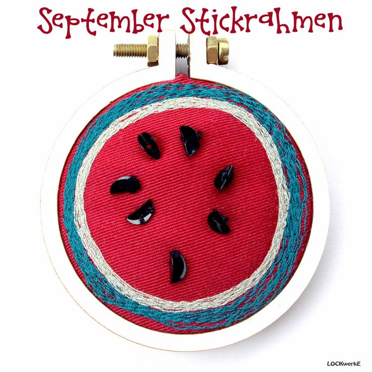 September-Stickrahmen 2017:  Fruchtig - Pailletten - Schmuckstück