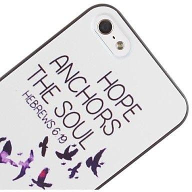 duif en het anker patroon pc harde case voor iPhone 5/5s - EUR € 2.87