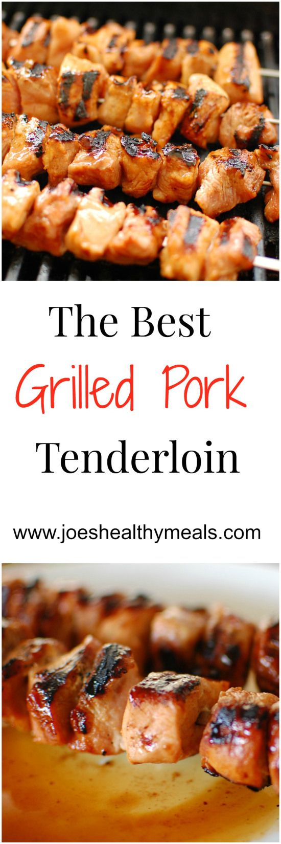 Grilled pork tenderloin kicked up with Sriracha hot sauce and brown sugar.  Super easy and delicious! | joeshealthymeals.com