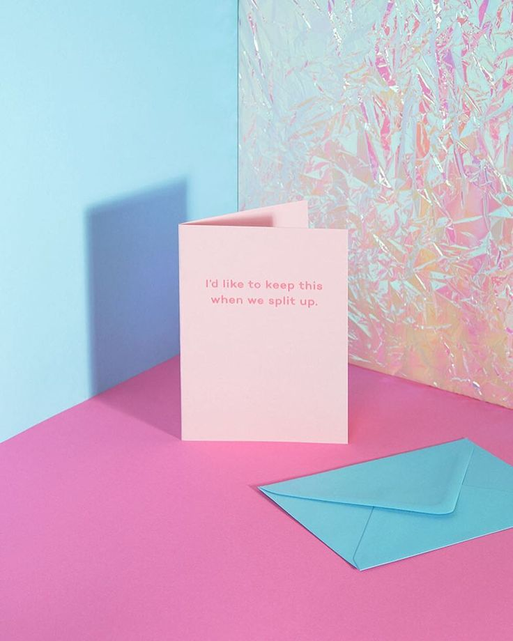 The first Mean Mail I ever wrote. Dedicated to my muse @antcrook  Candy pink 270gsm card embossed with neon pink hot foil. Comes with a pastel blue envelope and holographic sticker seal. #relationships #single #splitup #theend #divorce #truth #greetingscard #truthhurts #meanmail #  by @gifitup