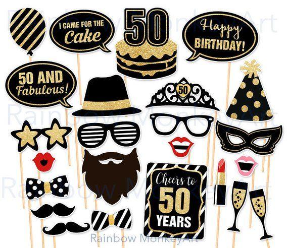 50th Birthday Photo Props