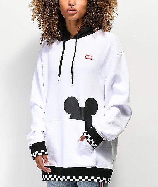 9937bdac6ef Disney by Vans Checkerboard Mickey White   Black Hoodie in 2019 ...