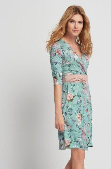 Zavinovacie šaty s kvetinovým vzorom