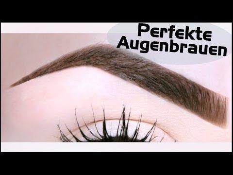 Perfekte AUGENBRAUEN - zupfen, formen, nachmalen I Hannah Black - YouTube