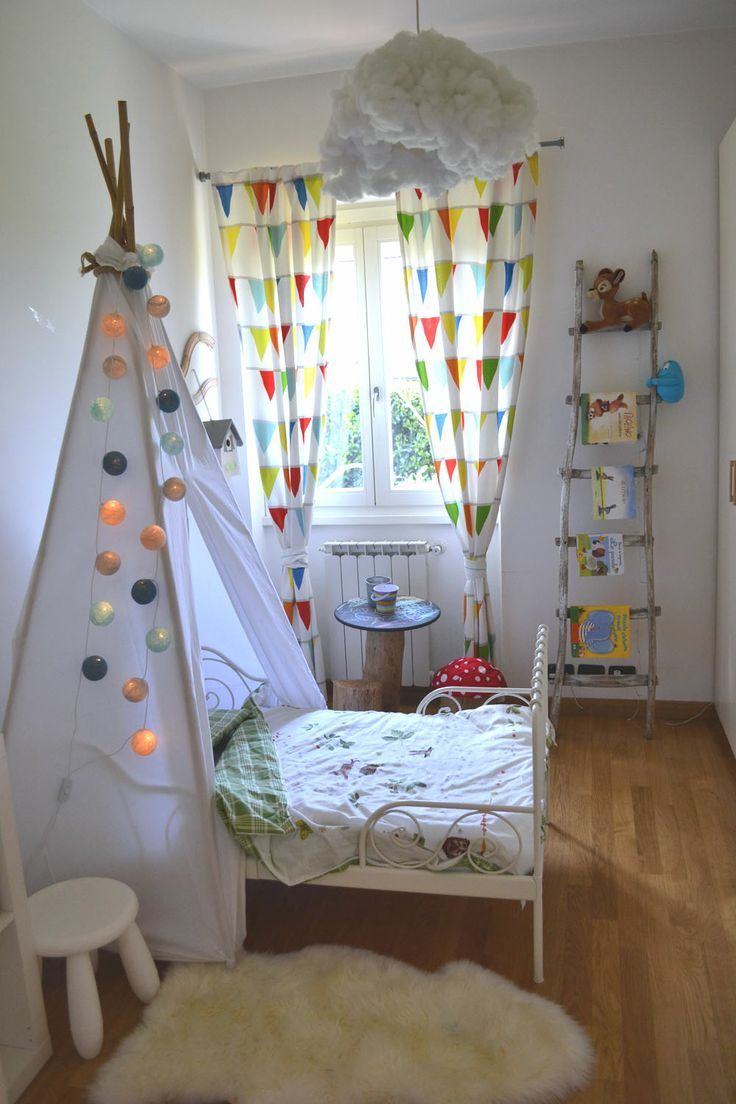 tipi bed in a beautiful child's room.  #kids #decor