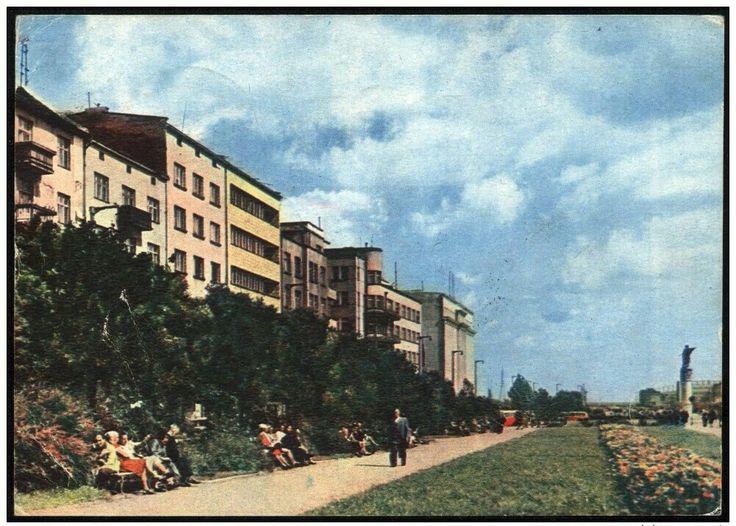 Skwer Kościuszki Fot. J. Uklejewski Wyd. Biuro Wydawnicze RUCH 1961