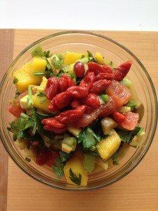 Mango Sunset Parsley Salad