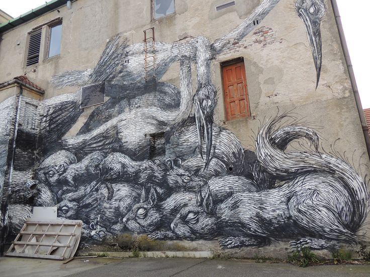 Street works in Stavanger #RegionStavanger by  ROA (BE) @nuart2013