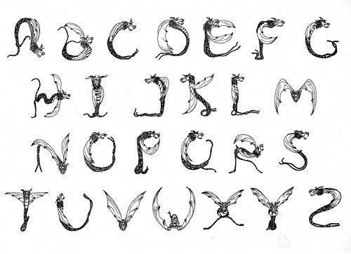 Dragon writing alphabet game
