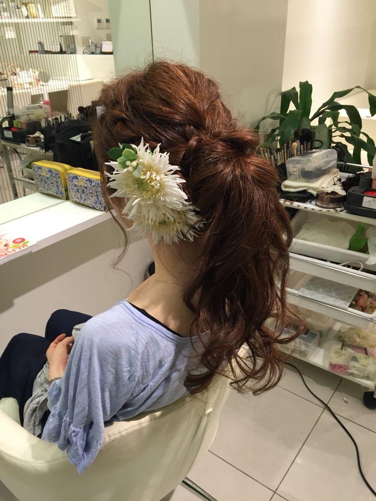 結婚式♡リハーサル♡お呼ばれヘア♡My Style