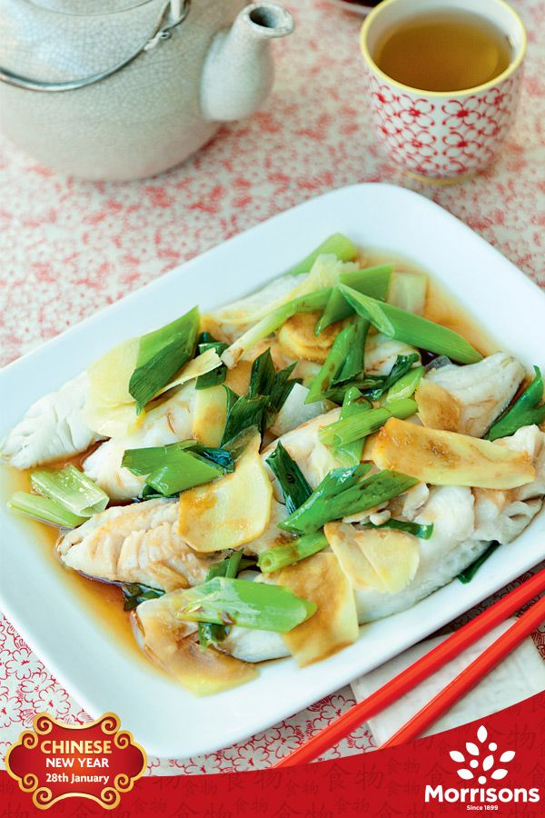 For Chinese New Year, fish represents a surplus of money and prosperity. Whiting, hake or sea bass all work well in this light dish.