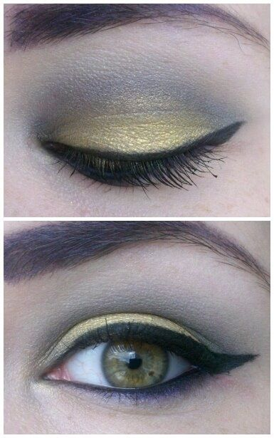 Batman inspired makeup!! Using Rockeresque Beauty Company's Lower East Side, Dead as Night, and Hollywood on the lid and Nightmare on the lower lash line and eyebrows.